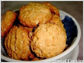 คุกกี้ข้าวโอ๊ต  (Oatmeal cookies)