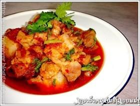 แกงเผ็ดหมูสามชั้นแบบพม่า