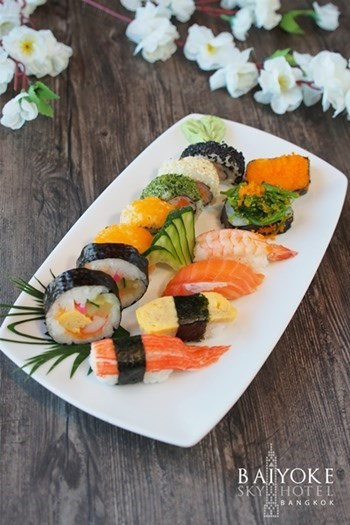 ซูชิ อาหารญี่ปุ่น BAIYOKE SKY HOTEL