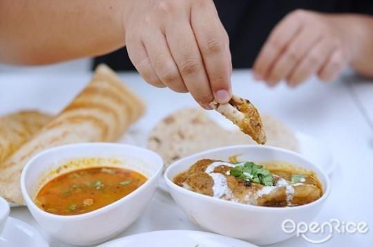 แกงกะหรี่ โรตี อาหารอินเดีย
